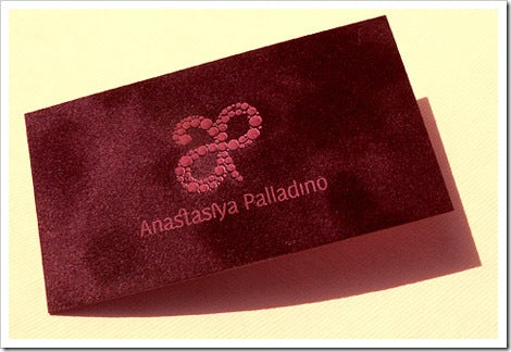 velvet business cards design