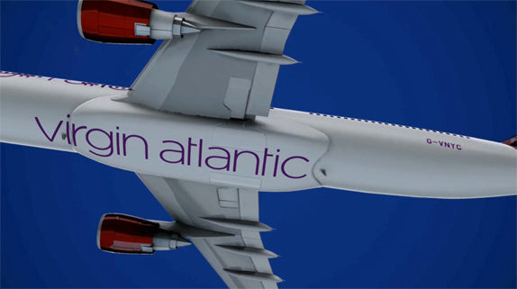 New Virgin Atlantic airplanes belly shot