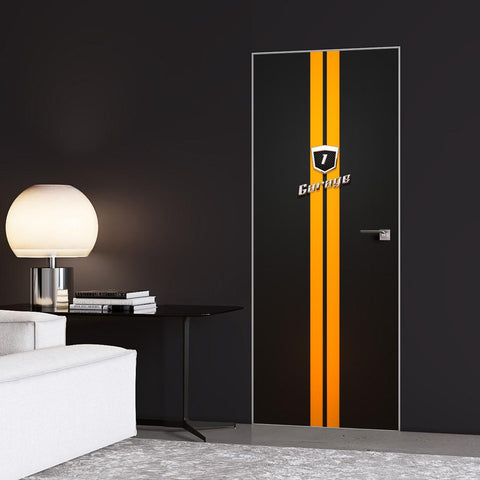 Yellow Stripes Garage Door Sticker - DoorTouch
