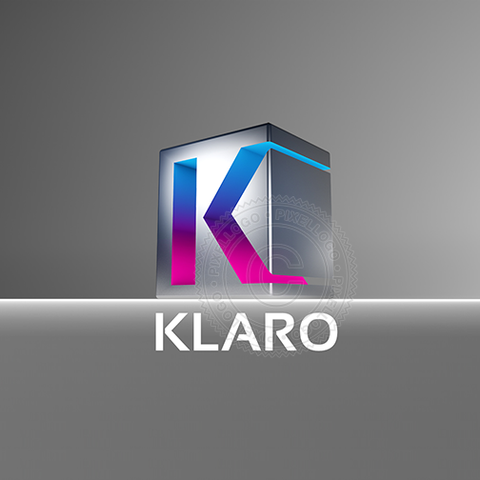 3D Metal Box Letter K logo - Steel Box | Pixellogo