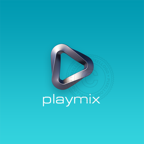 3D Music Mix logo - Pixellogo