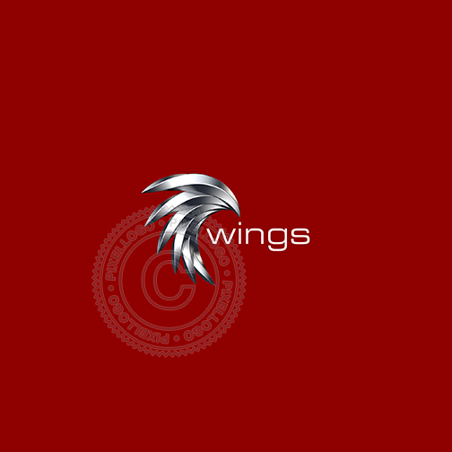 Steel 3D Eagle Logo