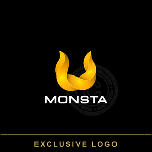 Viking Logo - yellow twisted horns | Pixellogo