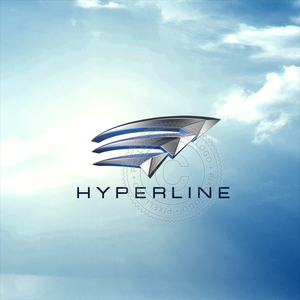 Hyper Speed Lines logo - 3 Arrows in motion | Pixellogo