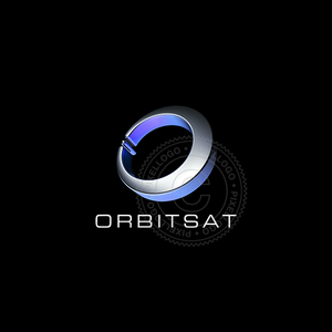 Orbit Satellite Logo - Pixellogo