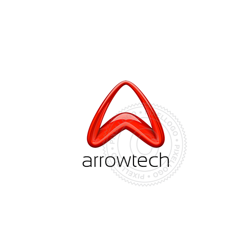 3D Red Arrow Logo - Pixellogo