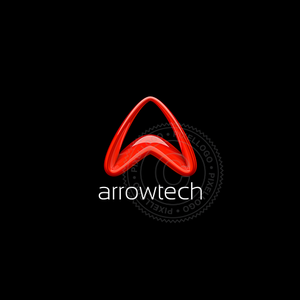3D Red Arrow Logo