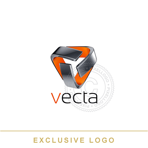 3D Metal Security Logo - Security Concept Logo | Pixellogo