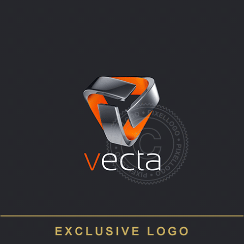 3D Metal Security Logo - Technology Logo | Pixellogo