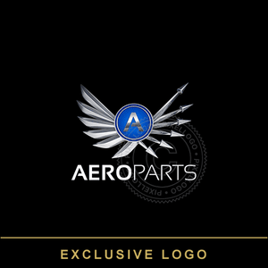 Aviation Industry Logo - 3D Wings and Arrows Logo | Pixellogo