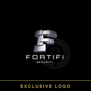 3D Letter F Security Logo - Pixellogo