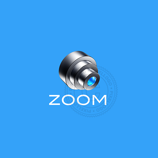 3D Zoom Photography Logo - Pixellogo