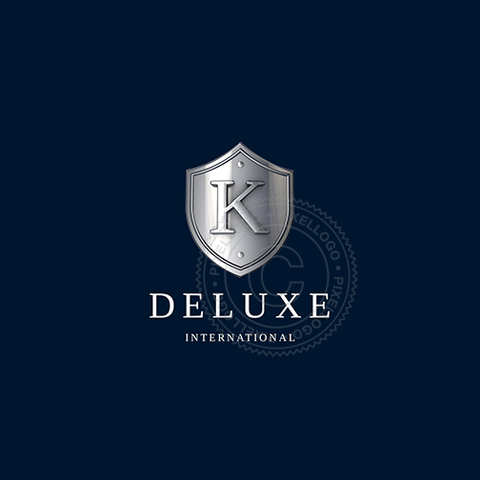 3D Silver Emblem Monogram - Luxury 3D Shield Logo | Pixellogo