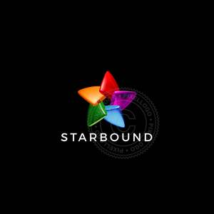 3D Color Star logo - Color Spectrum Star logo | Pixellogo