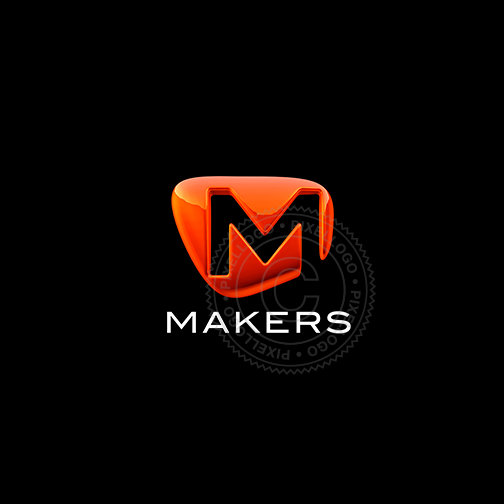 3D Makers M Logo - Pixellogo