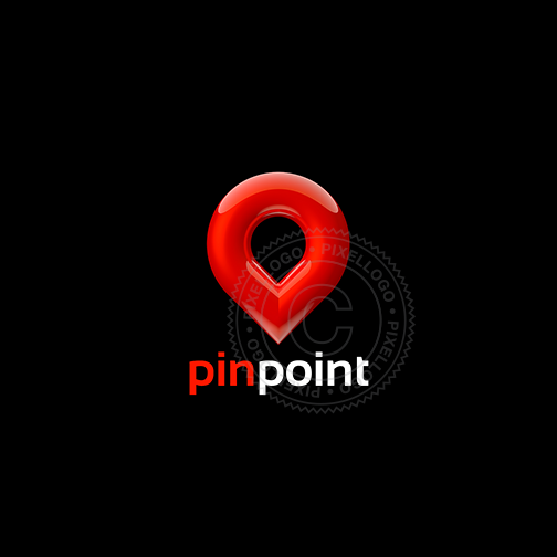 Cool 3D Pin Logo - Red Pin Logo template | Pixellogo