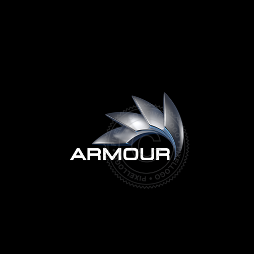 3D Steel Armour Logo - Cool Protective Shield Logo | Pixellogo
