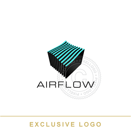 AirFlow Air Systems Logo - Air purifying Solutions | Pixellogo