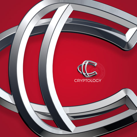 3D C Crypto Currency logo - 3 metal C in chain | Pixellogo