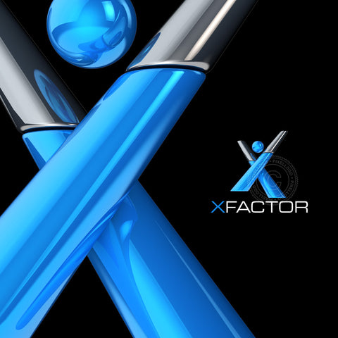 X Factor 3D man - Blue man in X Shape | Pixellogo
