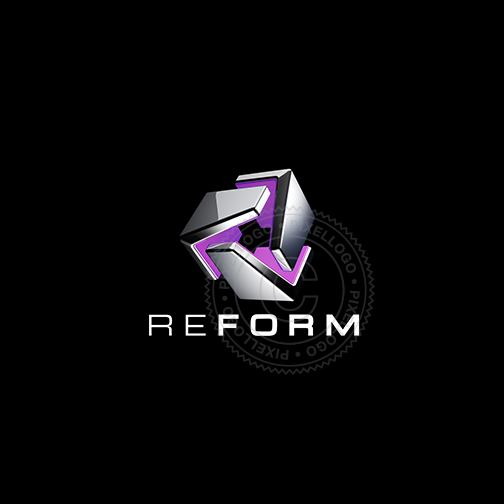 Re-Form 3D Printing Logo - Pixellogo