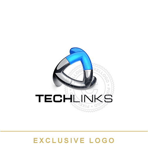 3D Tech Links Logo - Pixellogo