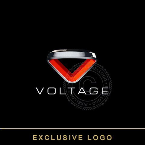 Voltage 3D V Logo - 3D metal band in V  | Pixellogo