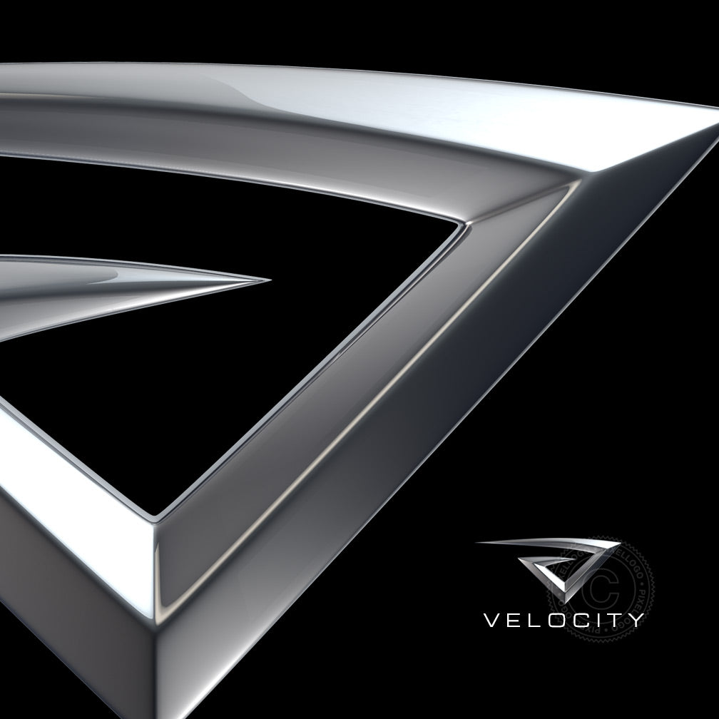 Velocity Technology logo - Speeding High tech V logo | Pixellogo