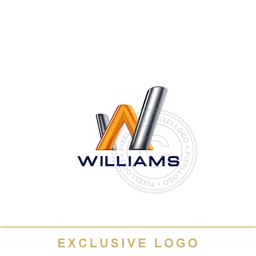 Williams 3D W Logo - Pixellogo