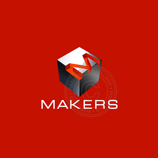 Makers 3D Box Logo - Pixellogo