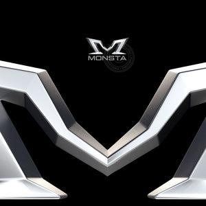 Monster M 3D Logo - Pixellogo