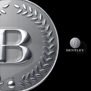 Silver Crest 3D logo - 3D Silver Coin With letter B | Pixellogo