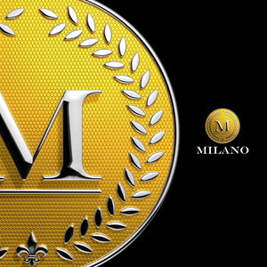 Gold Jewelry 3D logo - 3D Gold Coin With letter M | Pixellogo