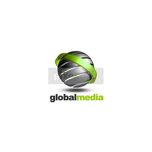 Modern Abstract Globe 3D Logo 3D-156 - pixellogo