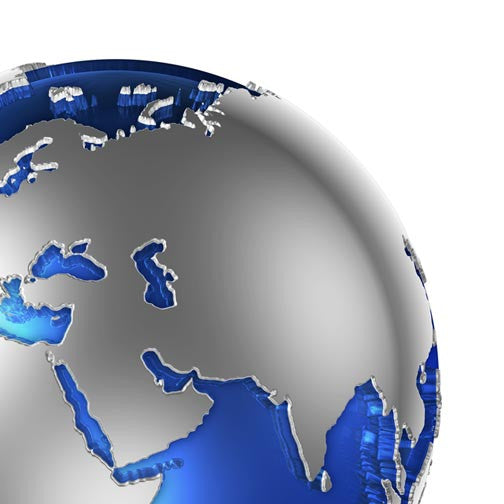Blue Globe World Atlas 3D - Pixellogo