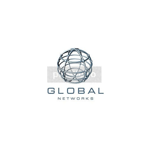 Wired Geometric Globe - Pixellogo