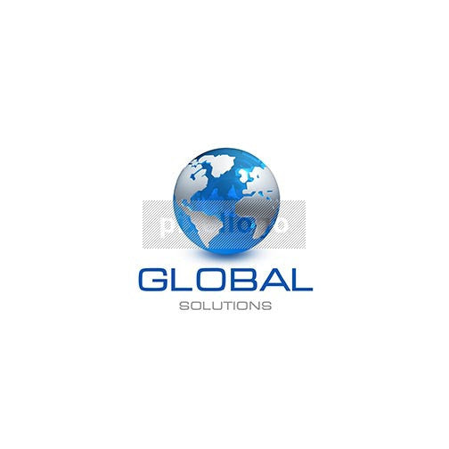 Globe World Map 3D - Pixellogo
