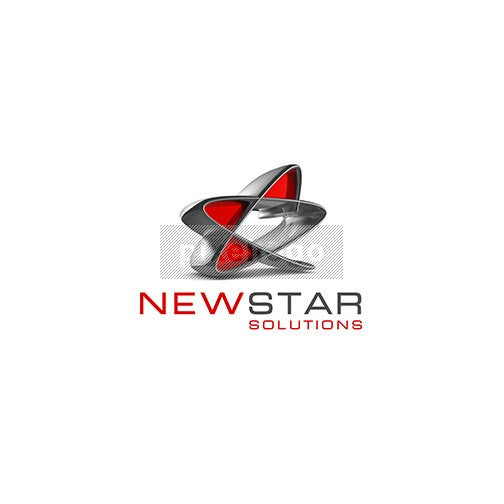 New Star Fluid Logo 3D-294 - pixellogo
