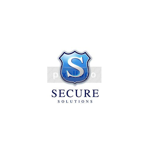 "Secure Solutions 3D Letter ""S"" Shield Logo 3D-46 - pixellogo"