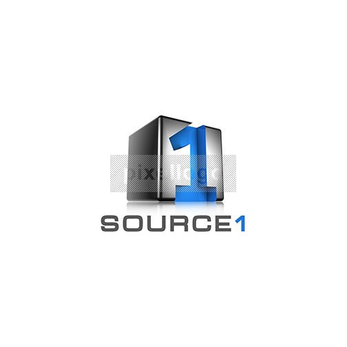 "Source One Cube 3D Number ""1"" Logo 3D-521 - pixellogo"