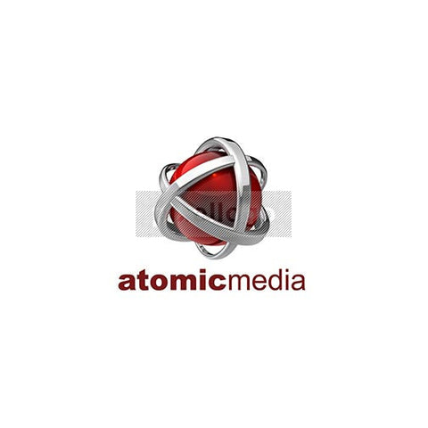 Atomic Media 3D Red Globe Protection Logo 3D-546 - Pixellogo