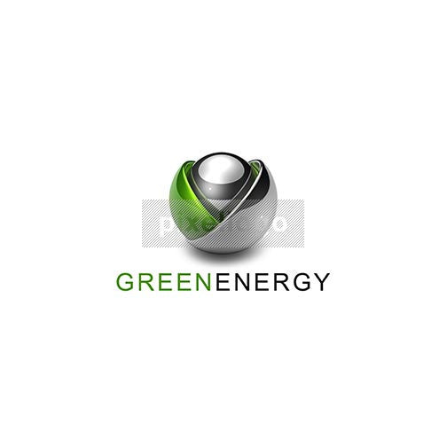 Green Energy Flower Bulb 3D - Pixellogo
