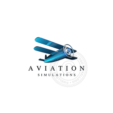 Free 3D Airplane logo