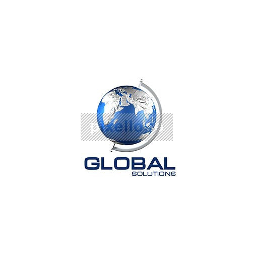 Globe On Axis 3D - Pixellogo