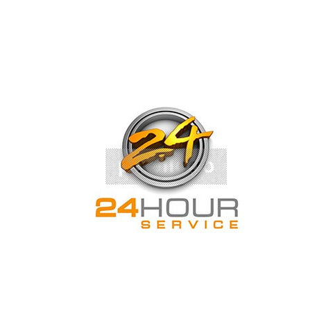 24 Hour 3D brush logo - Pixellogo