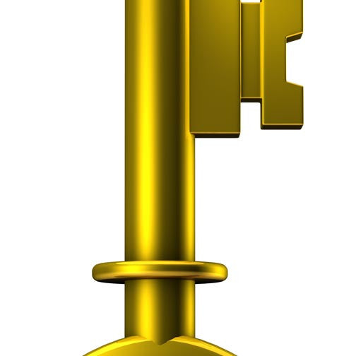 Golden Key 3D - Pixellogo