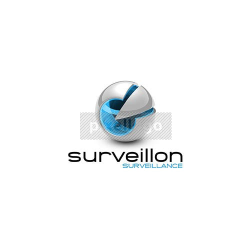 Abstract Surveillance Camera 3D - Pixellogo