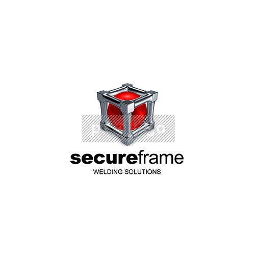 Red Ball in a Secure Frame 3D Logo 3D-736 - pixellogo