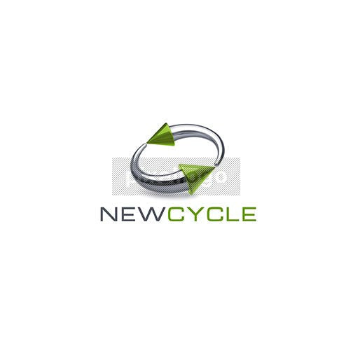 Green Recycle Arrow 3D - Pixellogo
