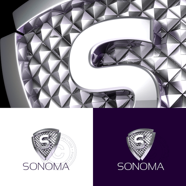 Expensive Luxury Shield S logo template | Pixellogo